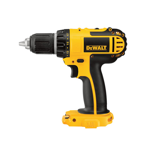 DEWALT Compact Cordless Drill/Driver — Tool Only, 18V, 1/2in., Model# DCD760B